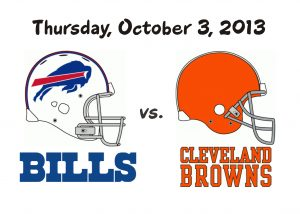 BILLS VS. BROWNS – October 3rd