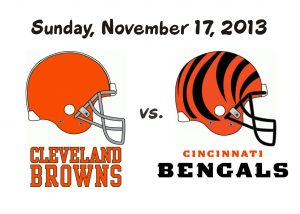 BROWNS VS. BENGALS – NOVEMBER 17, 2013