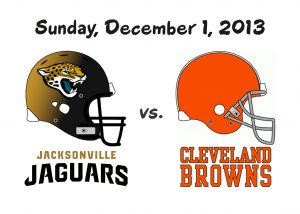 JAGUARS VS BROWNS – DEC. 1, 2013
