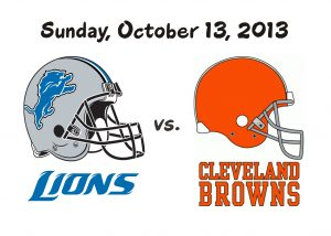 LIONS VS. BROWNS, OCT. 13