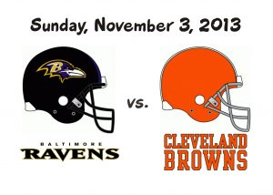 RAVENS VS BROWNS – SUNDAY, NOV. 3RD