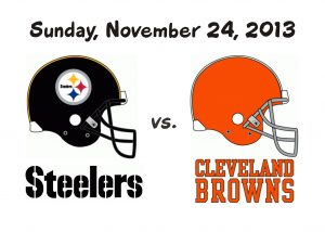 STEELERS VS. BROWNS – NOV. 24, 2013