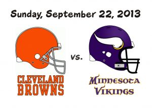 Browns vs. Vikings – Sept 22nd
