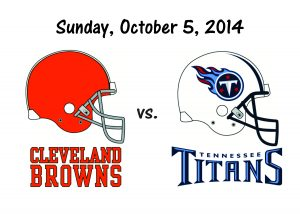 BROWNS VS. TITANS, OCTOBER 5th