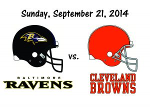 RAVENS VS. BROWNS, SEPT. 21st