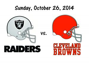 RAIDERS VS CLEVELAND – OCT. 26th