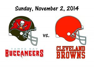 BUCCANEERS VS BROWNS, NOVEMBER 2nd