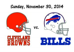 BROWNS vs BILLS, NOVEMBER 30th