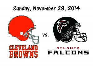BROWNS vs. FALCONS, Sunday, Nov. 23rd
