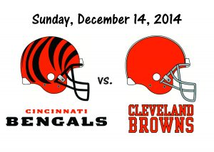 BENGALS vs BROWNS, SUNDAY, DECEMBER 14th