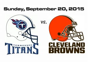 TITANS vs. BROWNS, SUNDAY, SEPT. 20TH @1PM