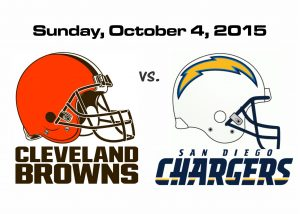 BROWNS vs CHARGERS, SUNDAY OCT. 4TH @4PM