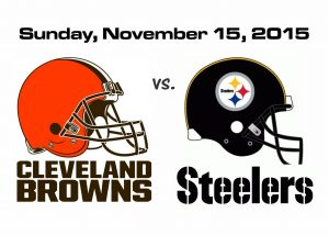 STEELERS vs. BROWNS, SUNDAY, NOVEMBER 15TH @ 1PM