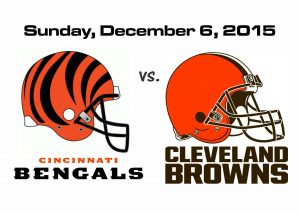 BENGALS VS BROWNS, DECEMBER 6TH @1PM