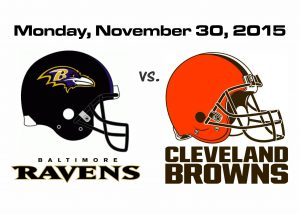 RAVENS vs. BROWNS, MONDAY NIGHT FOOTBALL