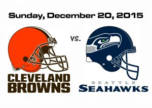 BROWNS VS. SEAHAWKS, SUNDAY, DEC. 20TH @ 4PM
