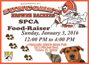 FOODRAISER FOR THE SPCA SUNCOAST, SUNDAY, JAN. 3, 2016