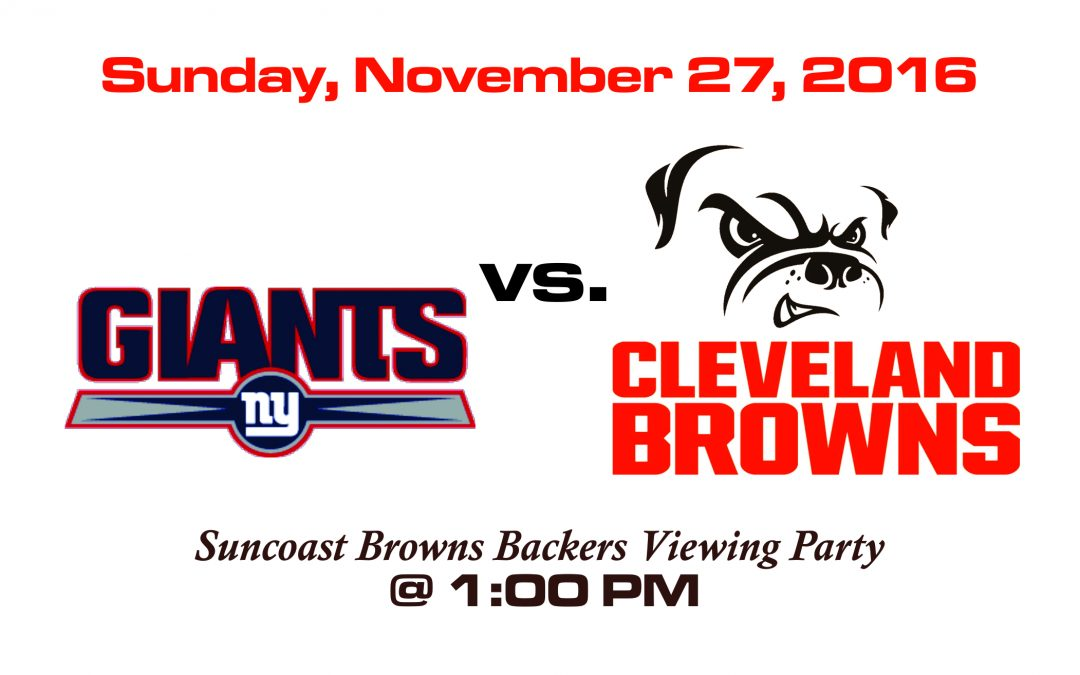 GIANTS vs. BROWNS, NOV. 27 @1PM