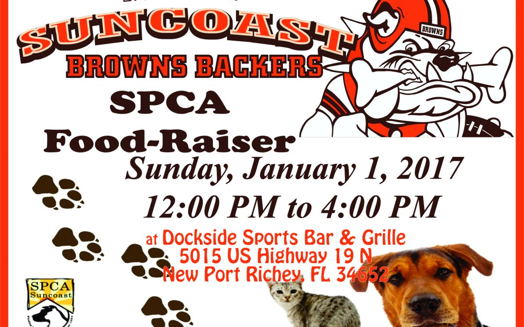 FOOD-RAISER FOR SPCA SUNCOAST – JAN. 1ST