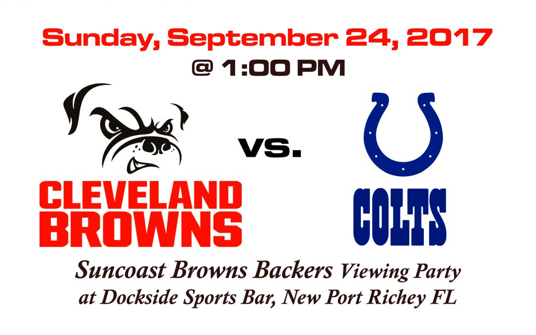 Browns vs Colts, Sunday Sept. 24 @ 1 PM