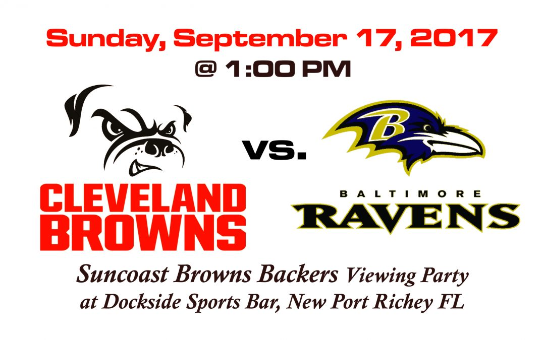 Browns vs Ravens, Sunday, Sept. 17 at 1PM