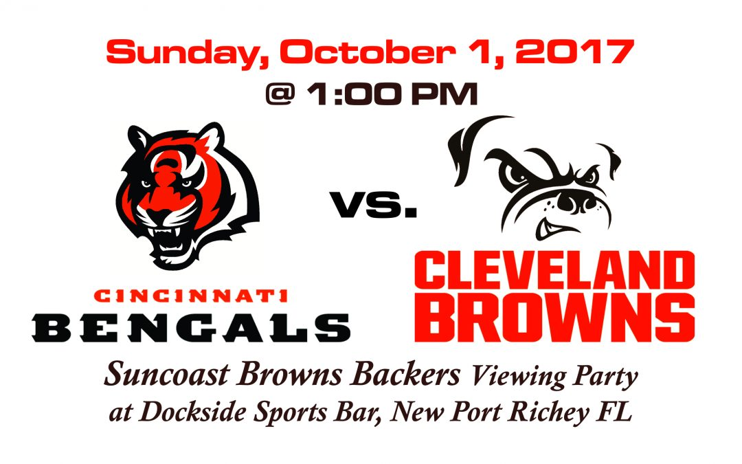 Browns vs. Bengals, Sunday, October 1 @1PM