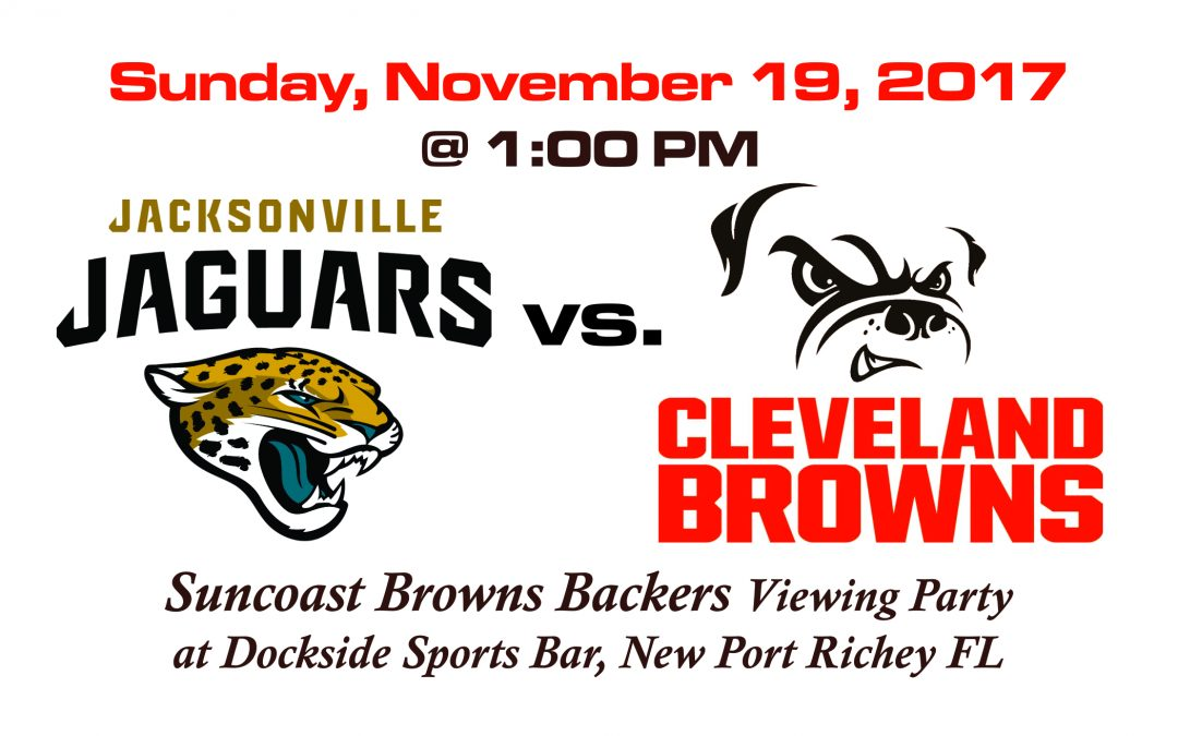 JAGUARS vs. BROWNS, Sunday, Nov. 19th @1PM