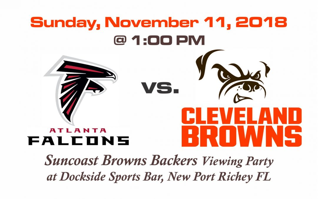 Falcons vs Browns, Sunday, Nov. 11th @1PM