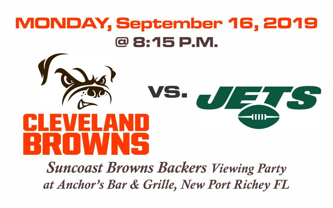 MONDAY NIGHT FOOTBALL – Browns vs Jets