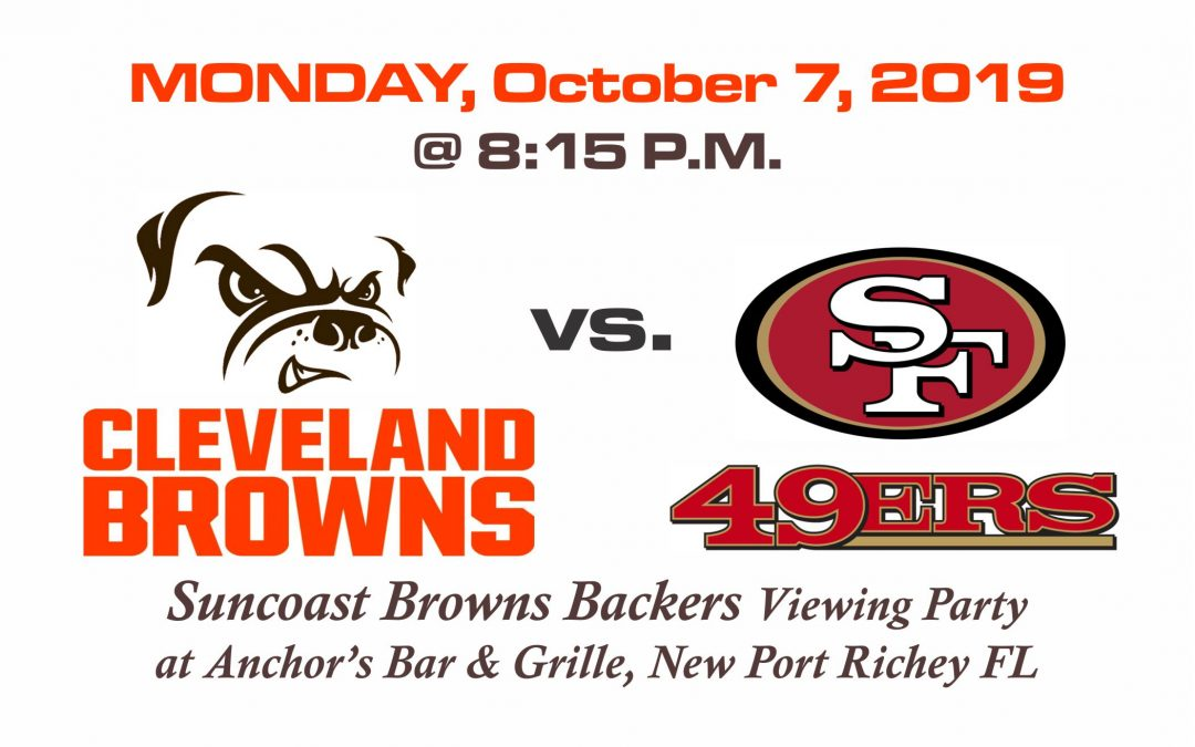 Browns vs. 49ers on Monday Night Football