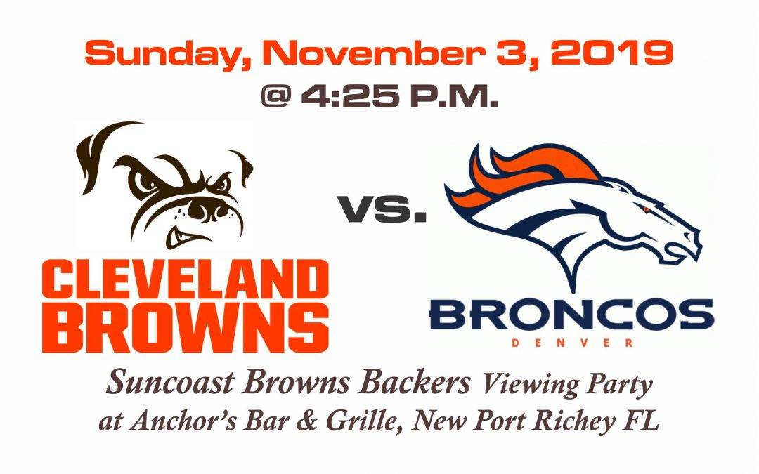 Browns vs Broncos, Sunday, Nov. 3rd @ 4:25PM