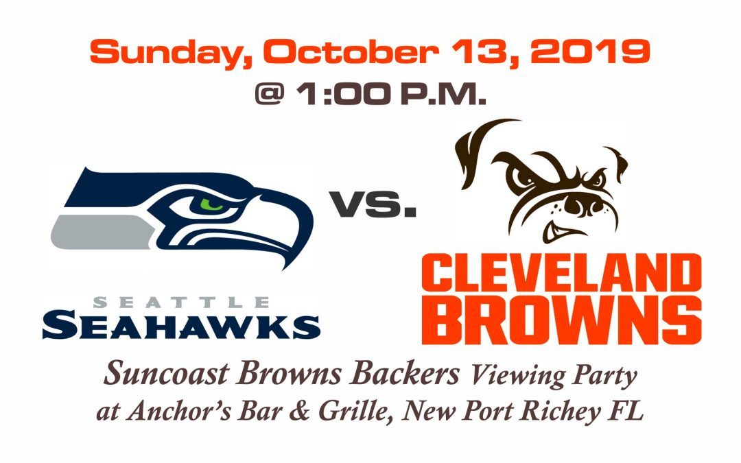 Seahawks vs Browns, Sunday, Oct. 13th @1PM