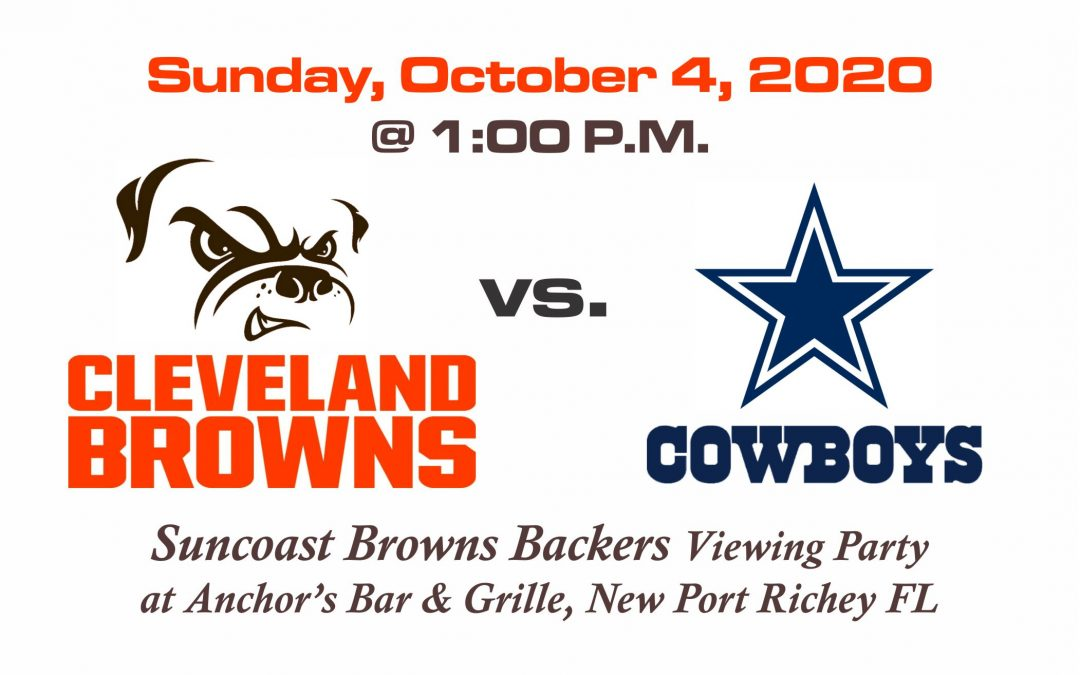 Browns vs Cowboys, Sunday, Oct. 4th @1PM