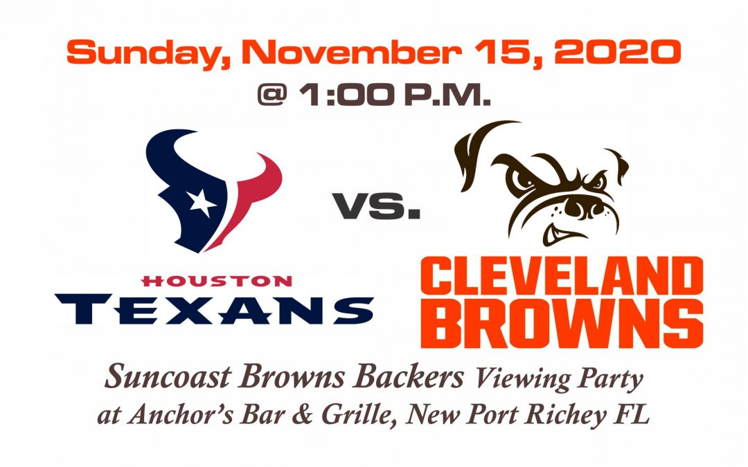 Texans vs Browns – Sunday, Nov. 15th @1PM