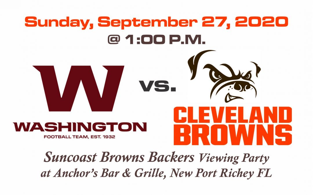 Washington vs Browns, Sun. Sep. 27th @1PM