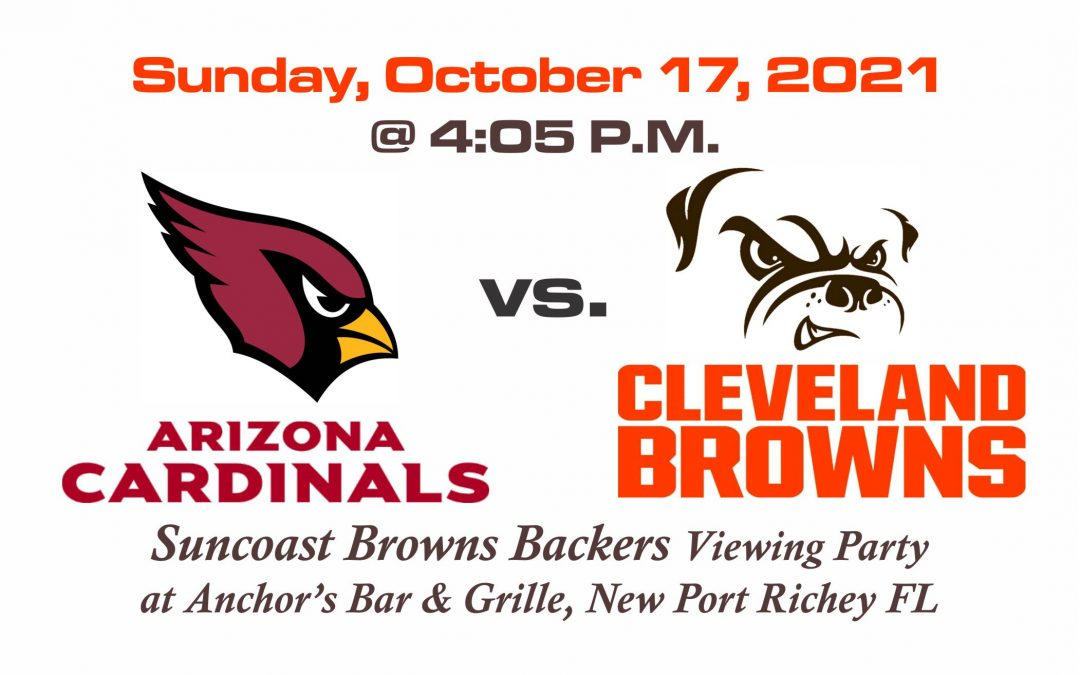 Cardinals vs Browns, Sunday Oct. 17th @ 4:05PM