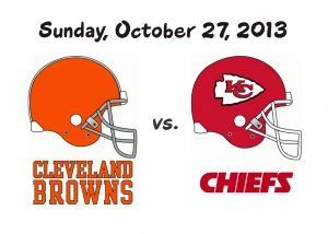 BROWNS VS CHIEFS – SUNDAY OCT. 27TH