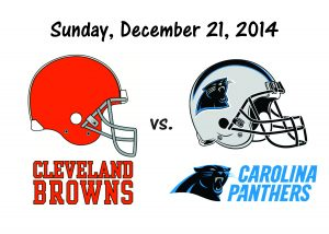 BROWNS vs PANTHERS, SUNDAY, DECEMBER 21st
