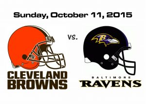 BROWNS vs RAVENS, SUNDAY OCT. 11TH @1PM