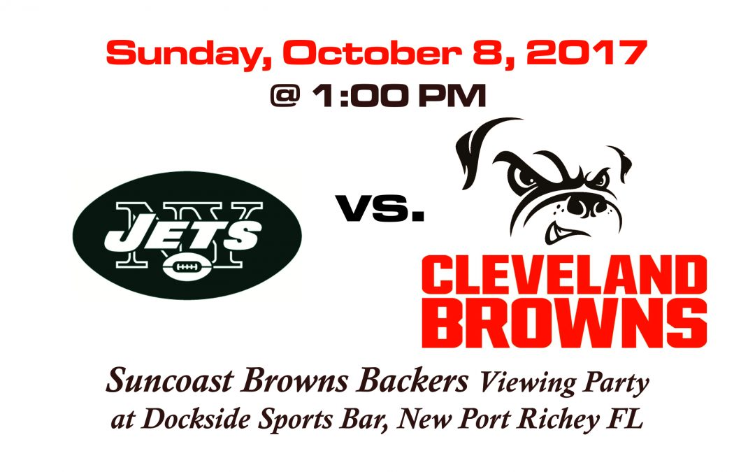 JETS vs BROWNS, Sunday, October 8th @1PM