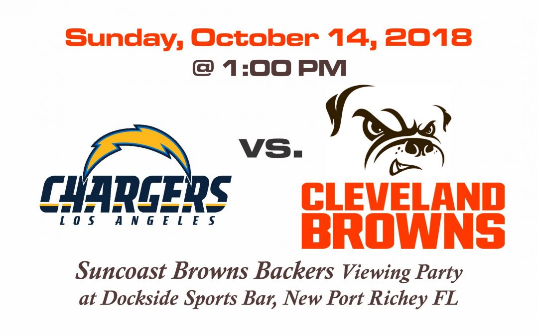 Chargers vs Browns, Sunday, October 14th @1PM
