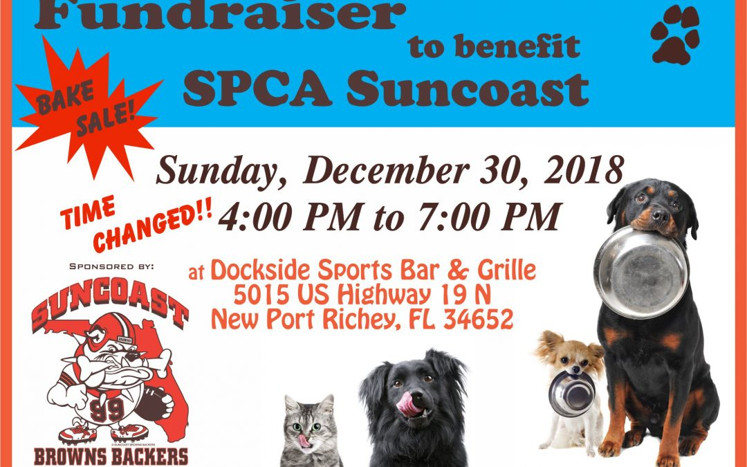 TIME CHANGED! Fundraiser to Benefit the Suncoast SPCA