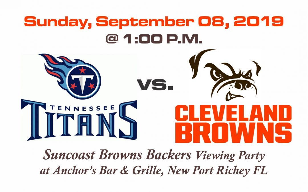 Titan vs Browns SCBB Tailgate Party