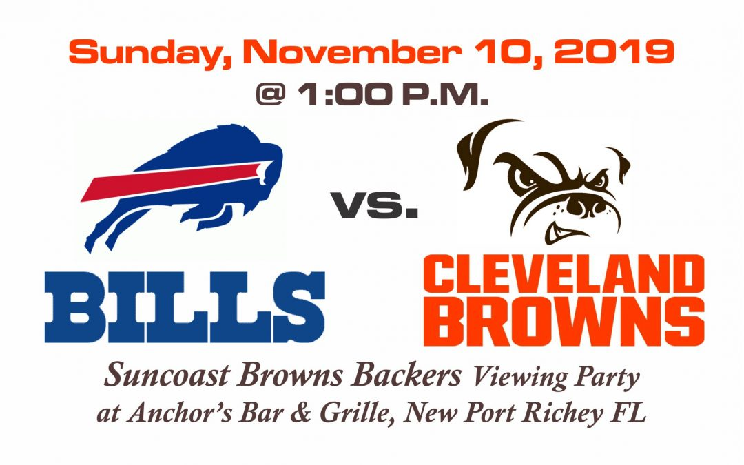 Bills vs Browns, Sunday, Nov. 10th @ 1PM