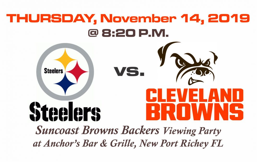 Steelers vs Browns, THURSDAY, Nov. 14th @ 8:20PM