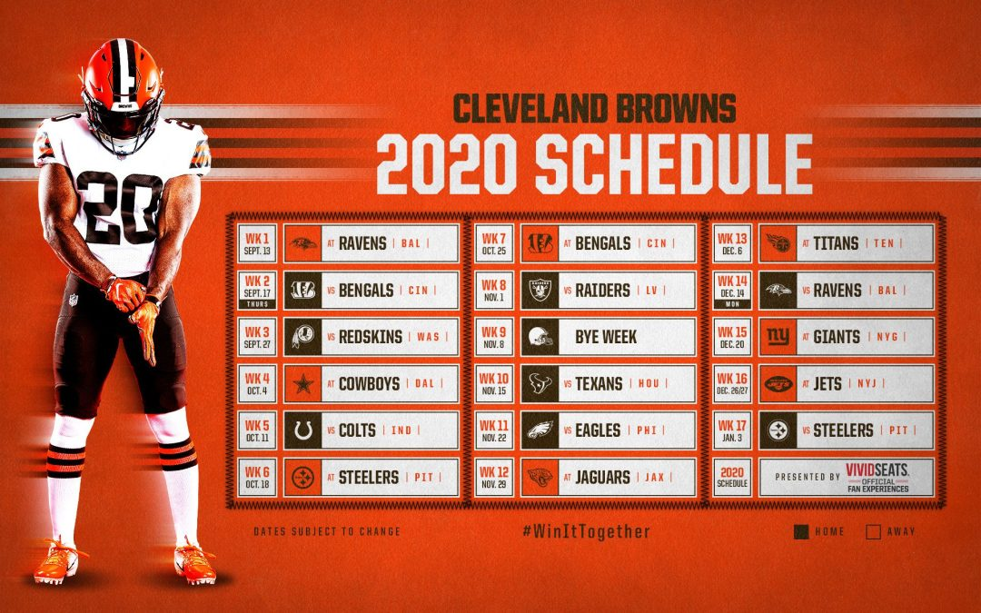 2020 Cleveland Browns Schedule